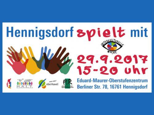 Hennigsdorf spielt mit - Abschlussveranstaltung der interkulturellen Woche
