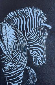 Zebra, Holzschnitt